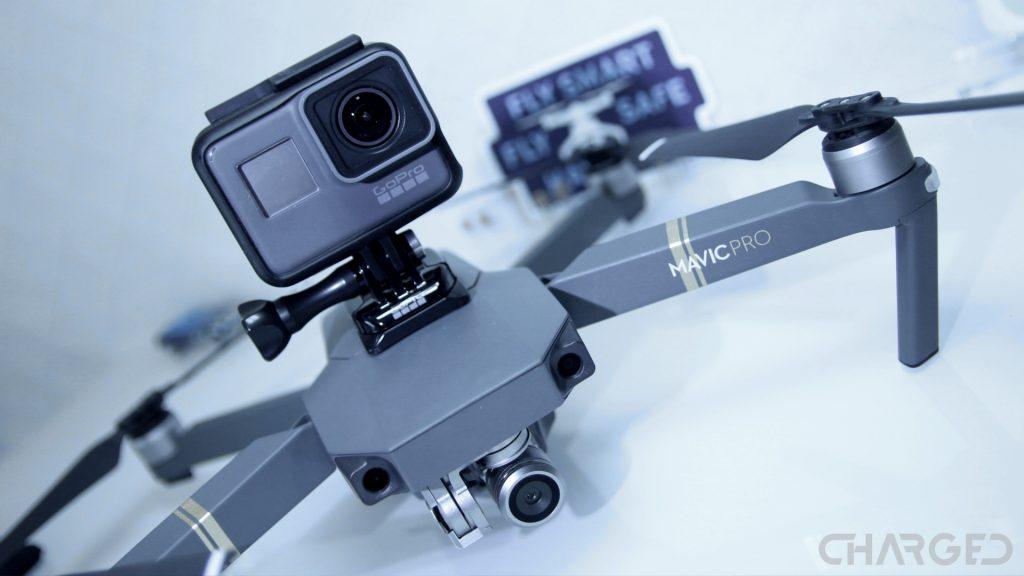 DJI Mavic Pro with GoPro Hero 5 gopro drones