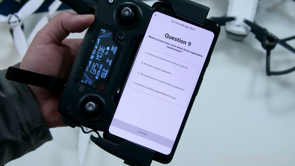 DJI FAA quiz registration
