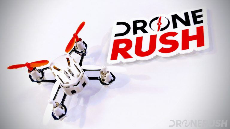 Hubsan H111 with Drone Rush logo
