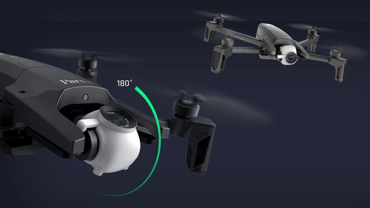 Inclinaison de la caméra du drone pliant Parrot Anafi
