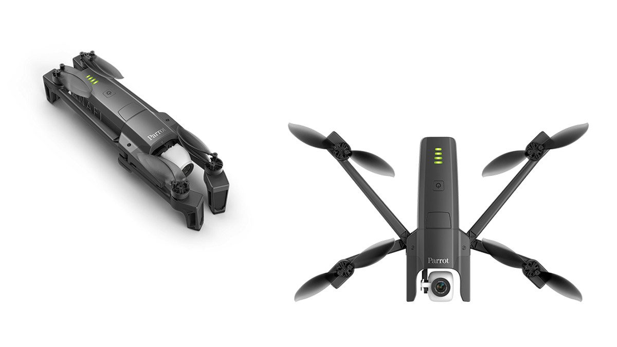 Parrot Anafi folding drone folded open