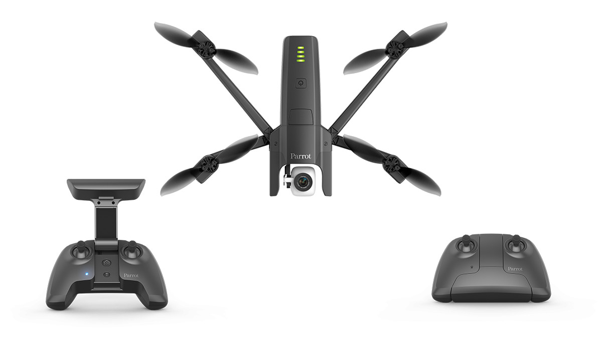 Parrot Anafi folding drone remote control open and closed