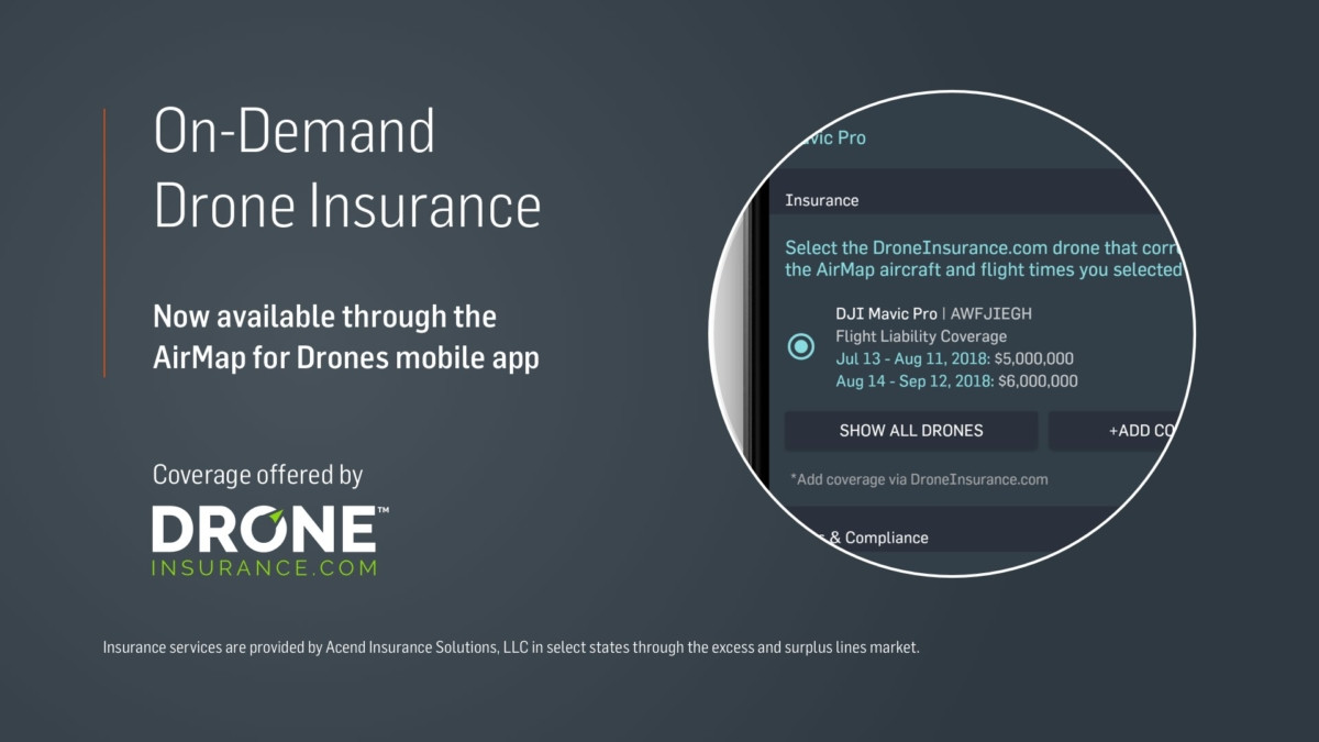 AirMap drone insurance partnership