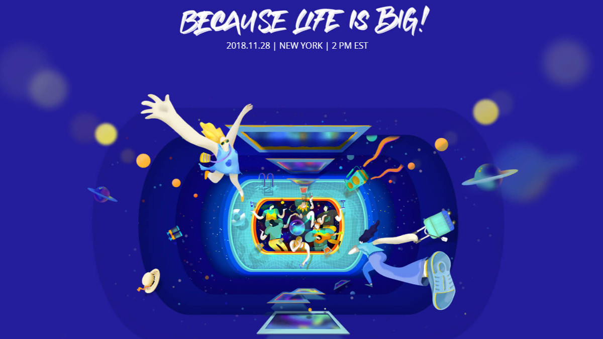 DJI Because Life Is Big event banner