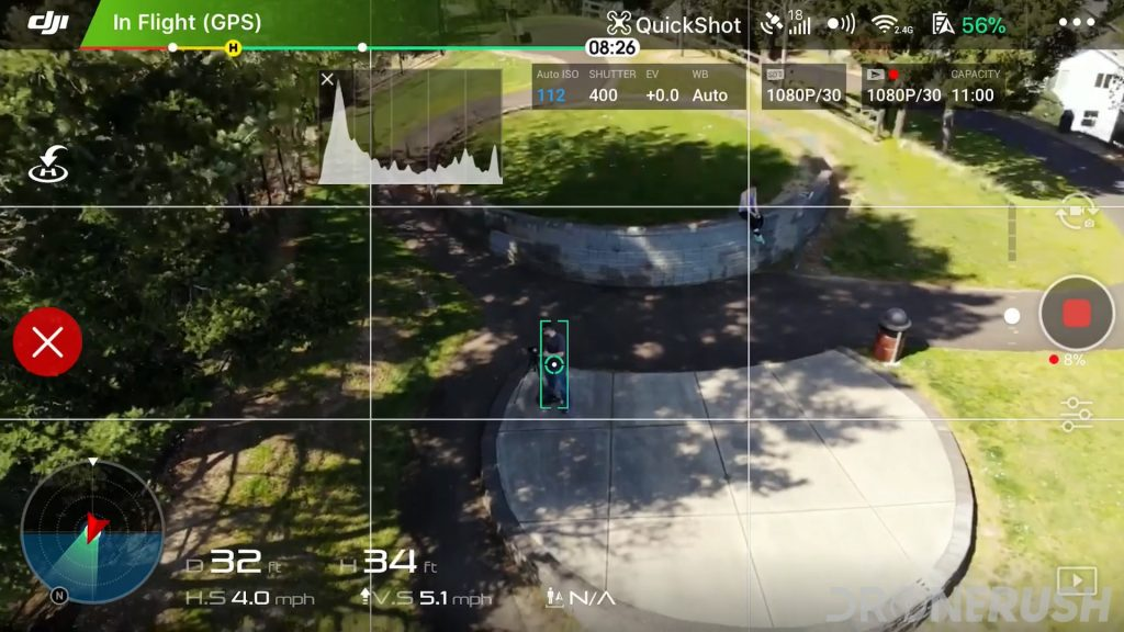 DJI Quickshot object detection follow me