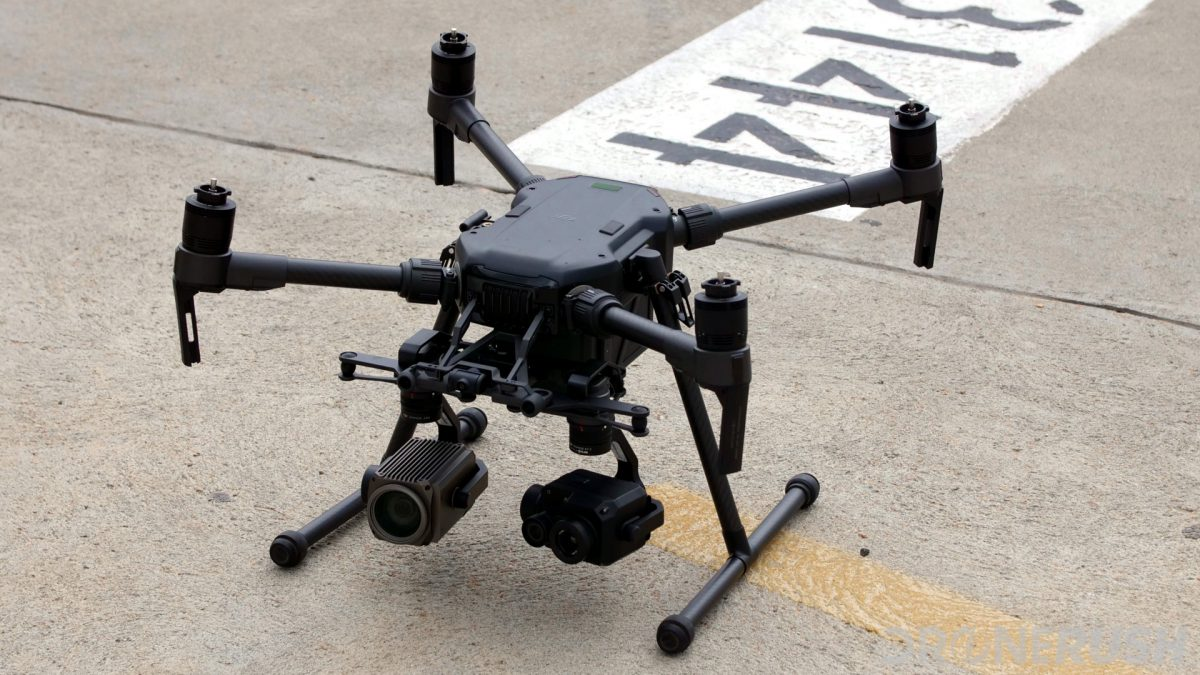 DJI XT2 thermal camera on M200 commercial drone landed