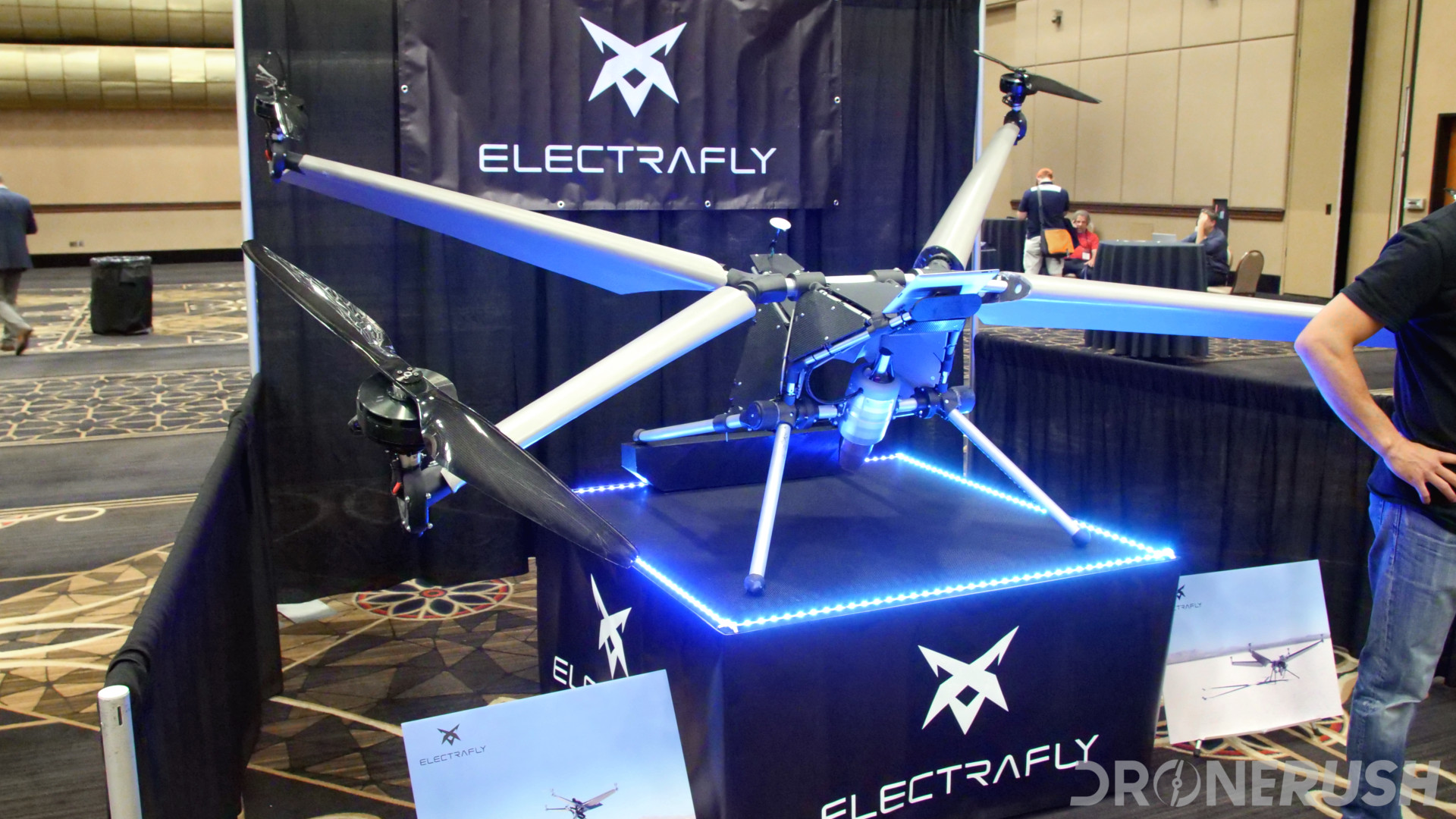 Electrafly riding drone stunt drone interdrone 2018