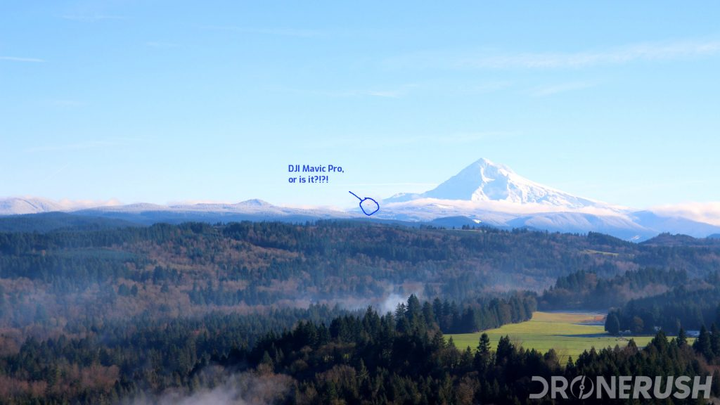 Is that the Mavic Pro in front of Mt Hood