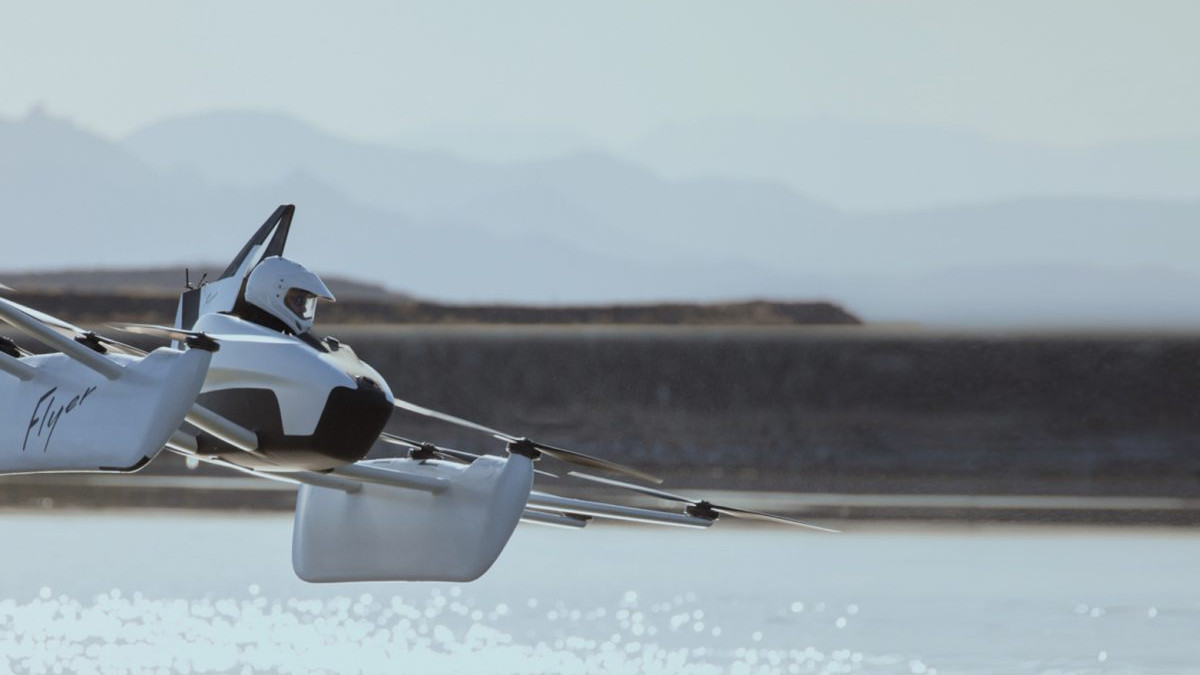 KittyHawk Flyer over water passenger drone