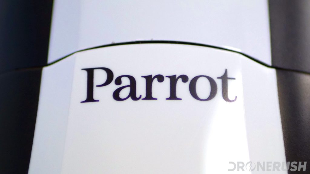 Parrot logo on top of Parrot BeBop 2