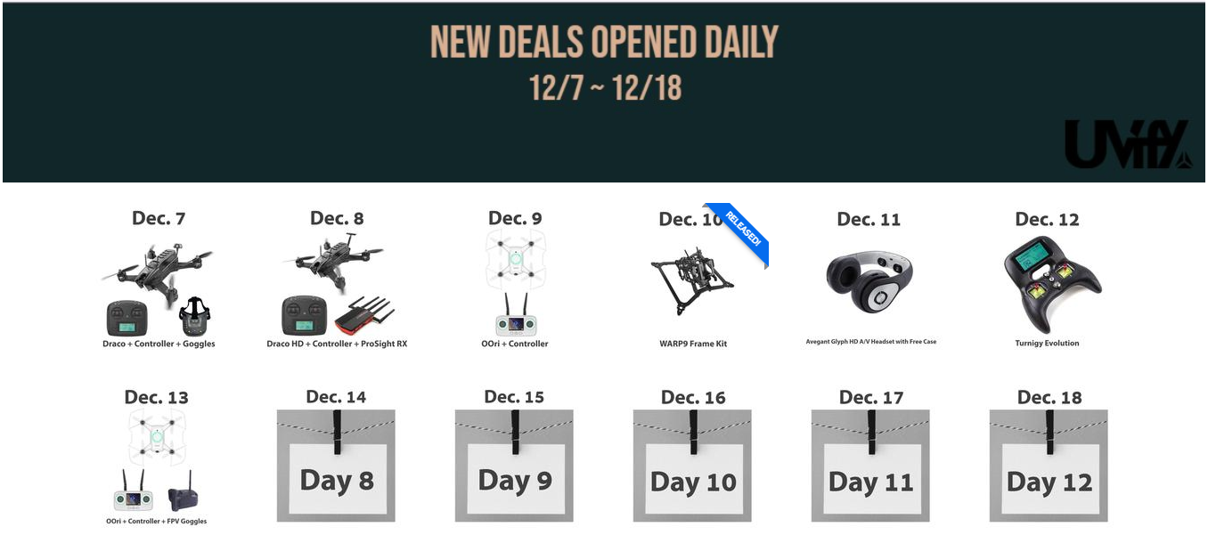 UVify holiday deals 2018