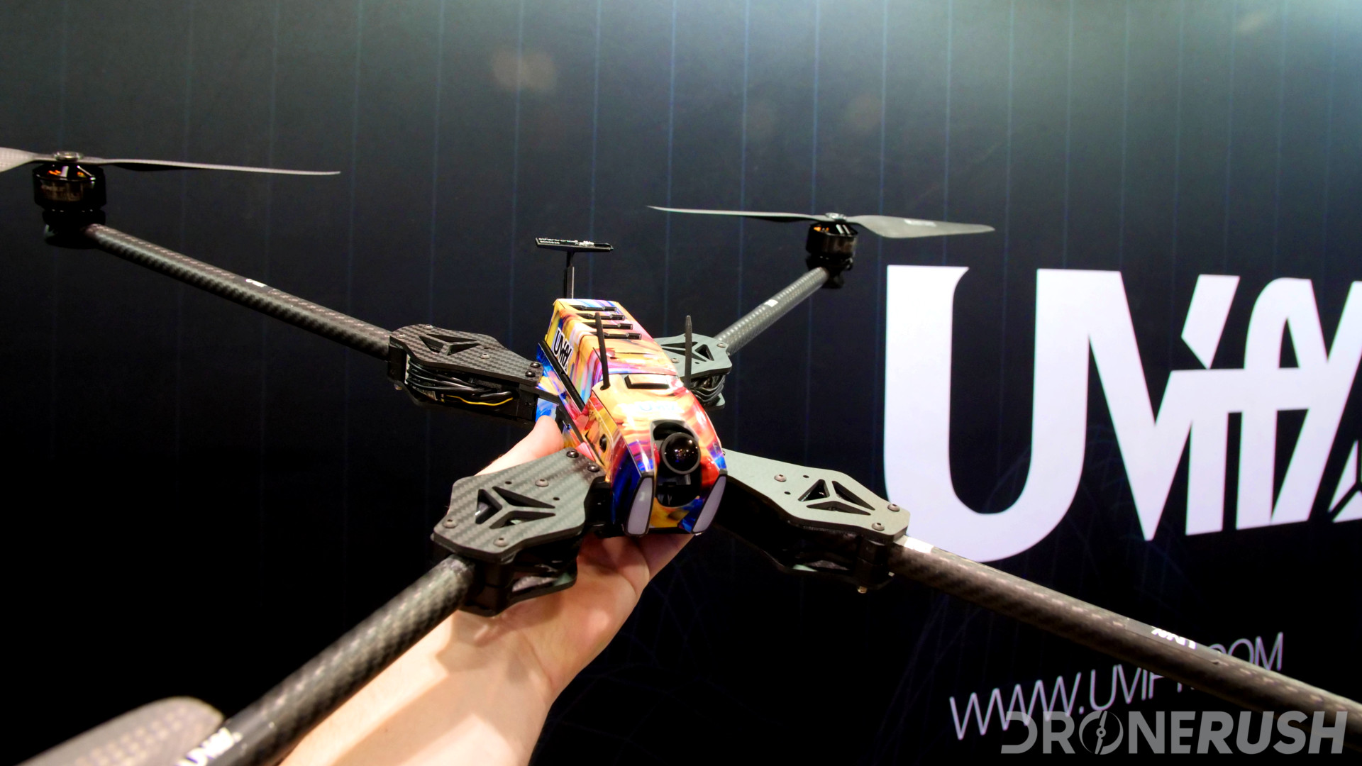 Uvify Draco extended propeller arms modular design