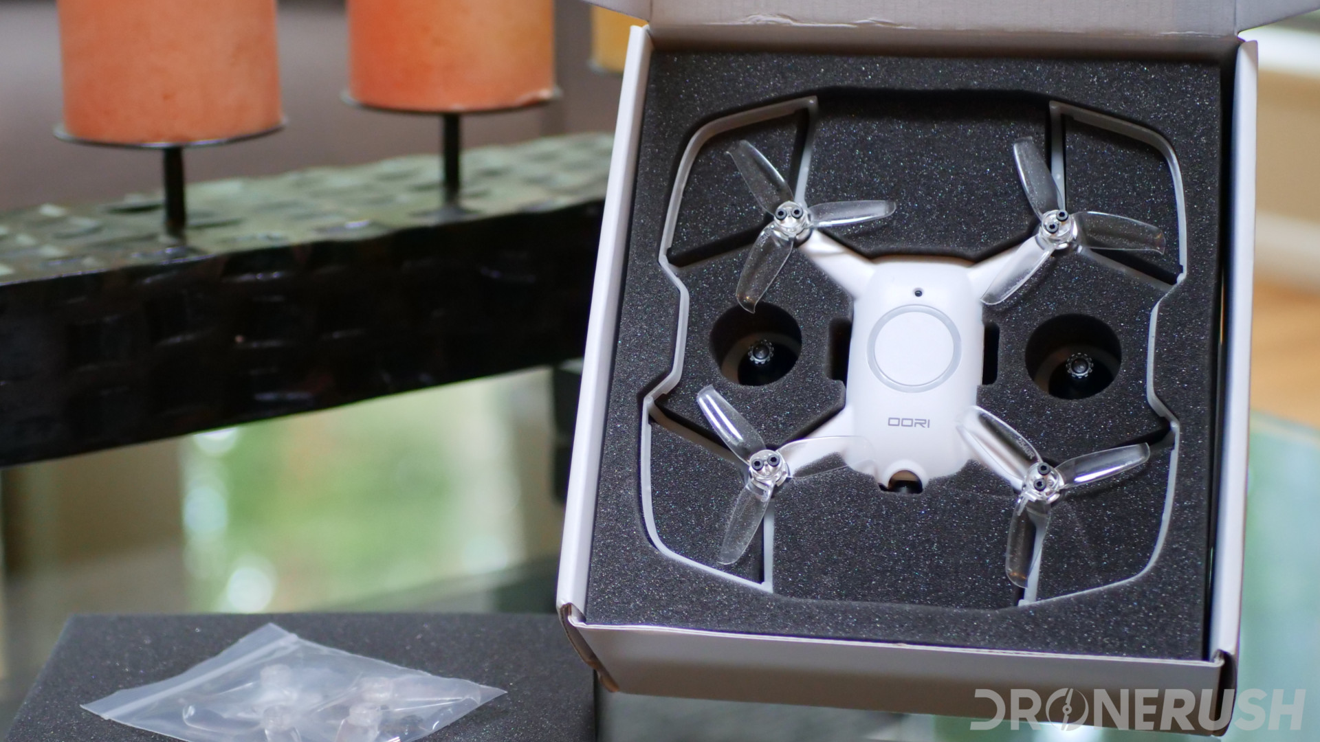 Uvify OOri unboxing drone in box