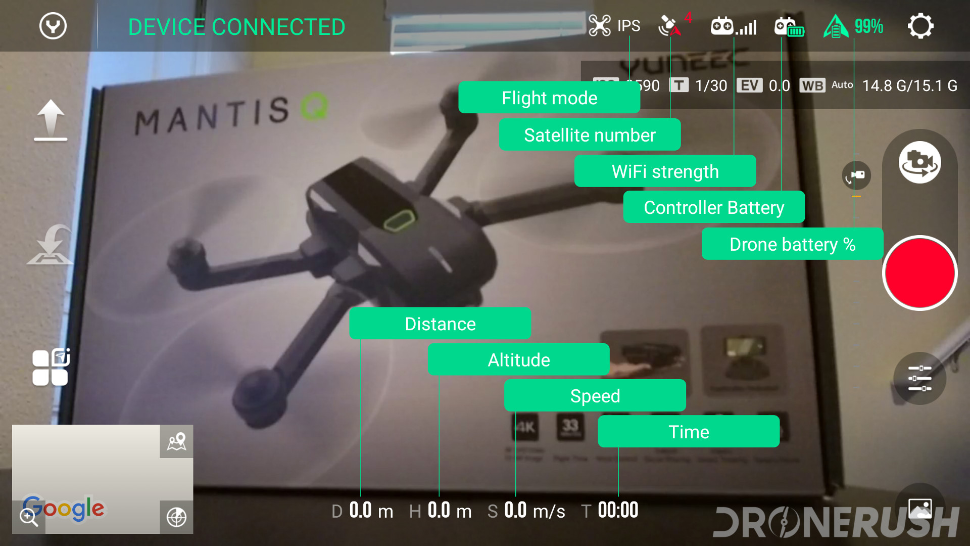 Yuneec Mantis Q Yuneec Pilot app drone options