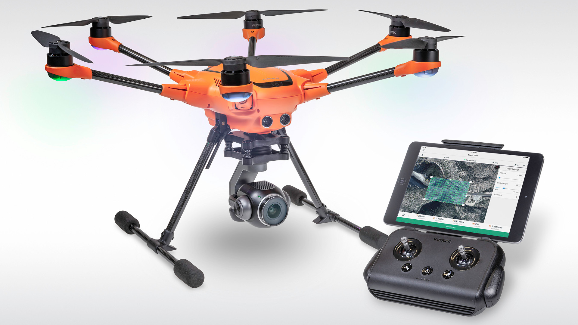 Yuneec and 3DR partnership with H520 commercial drone at interdrone 2018