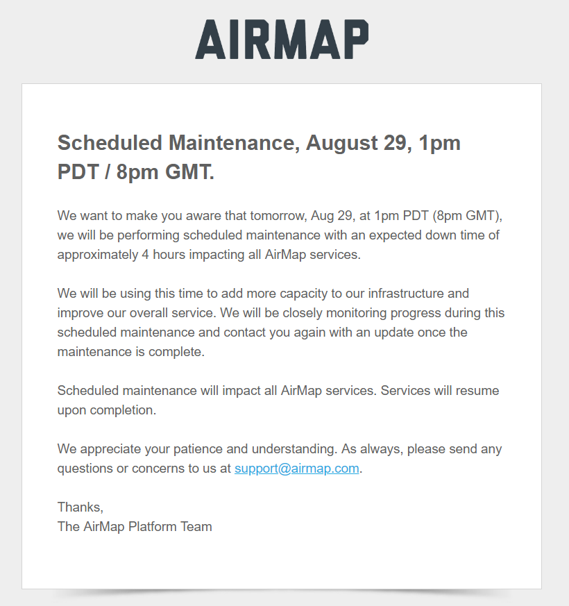 airmap maintenance