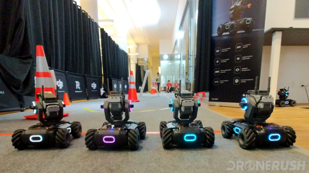 DJI RoboMaster S1 Lined up to race