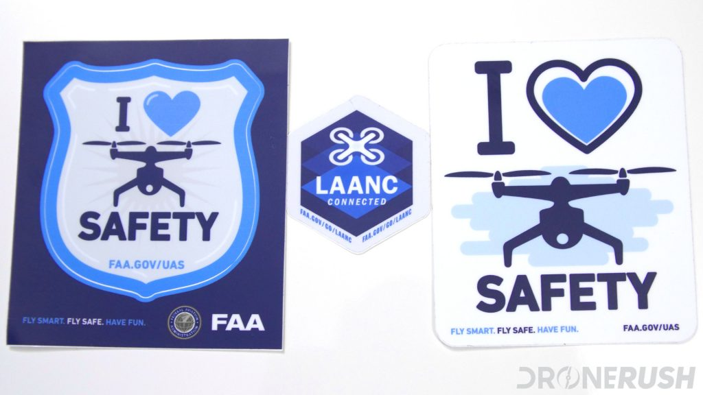 FAA LAANC safety stickers