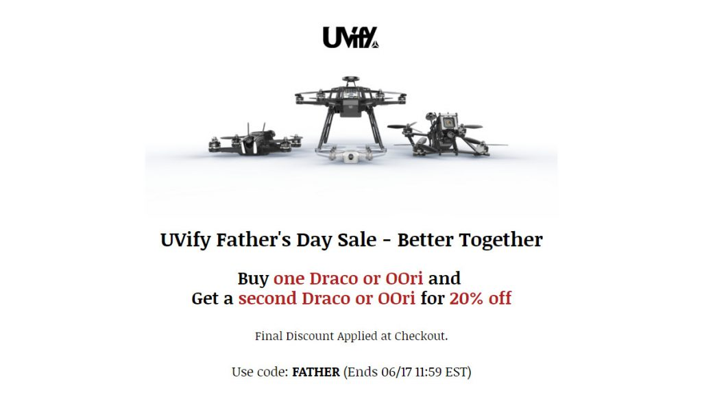 UVify Fathers Day sale 2019