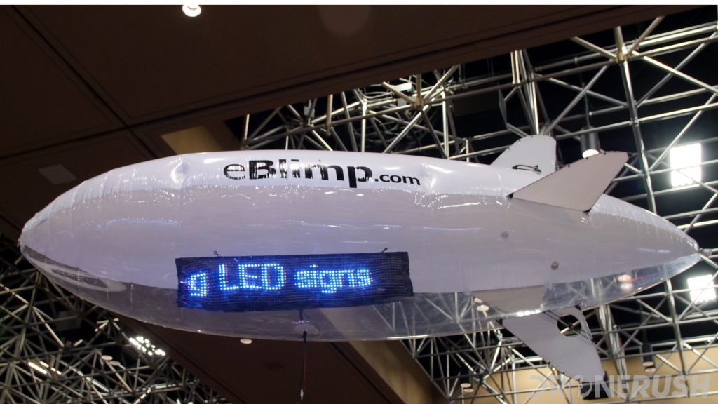 eBlimp led advertising drone at Interdrone 2019