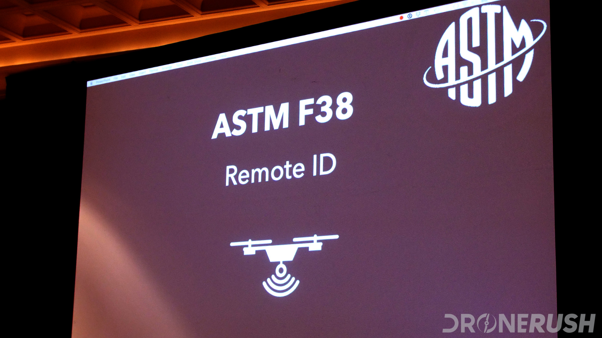 Interdrone 2019 ASTM F38 remote ID
