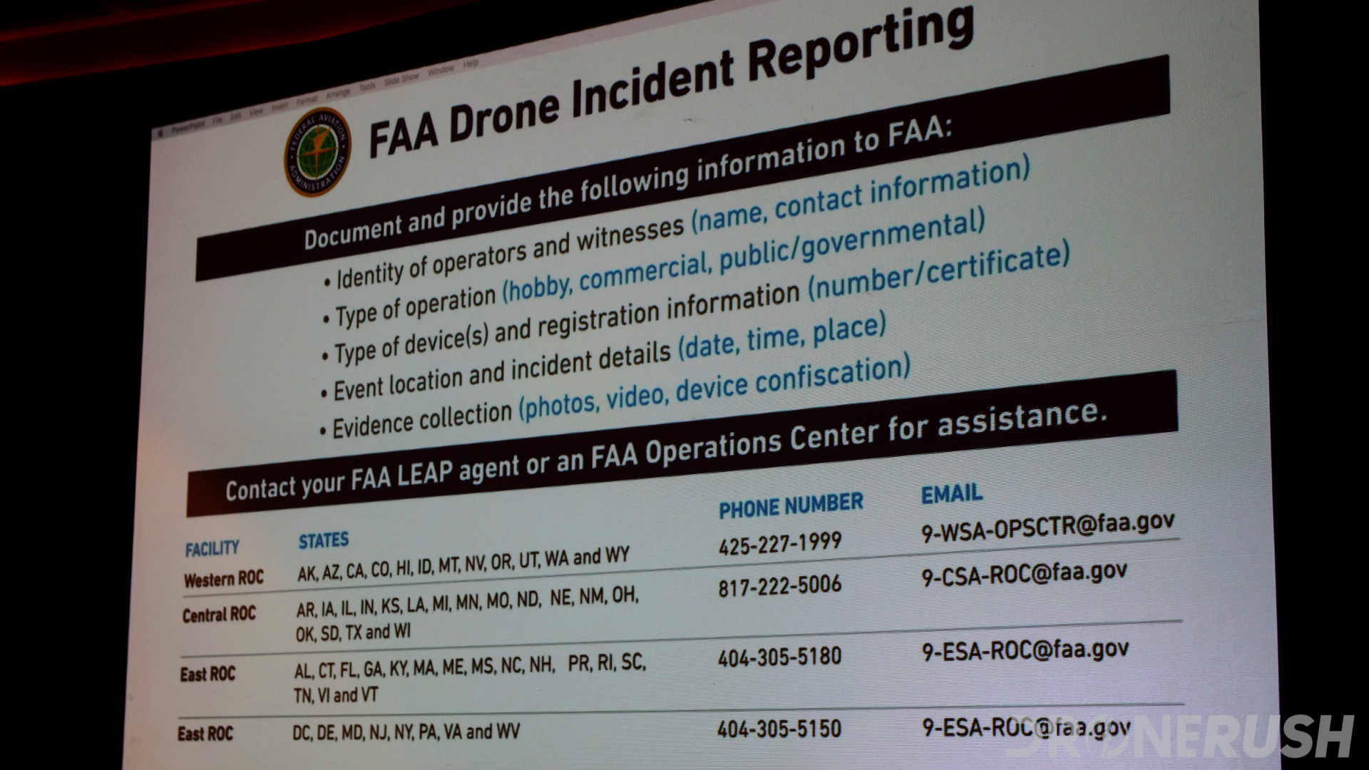 Interdrone 2019 FAA drone incident reporting