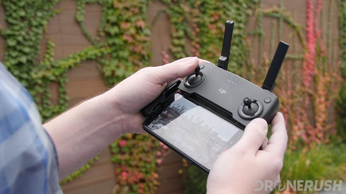 DJI Mavic Mini launch controller flying