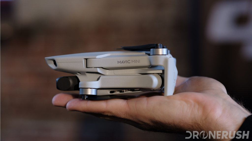 DJI Mavic Mini launch folded in hand