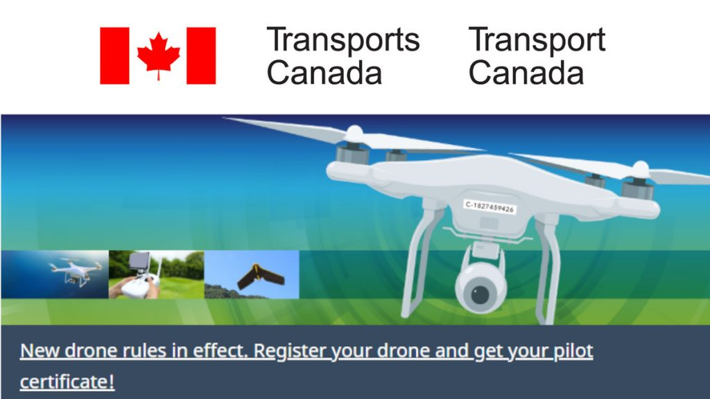Canadian drone laws Transport Canada logo