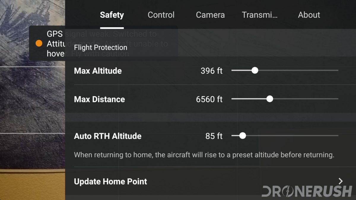 DJI Mavic Mini review DJI Fly App Safety