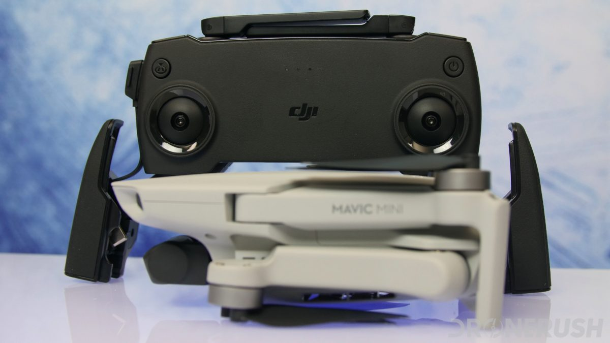 DJI Mavic Mini review remote front over drone
