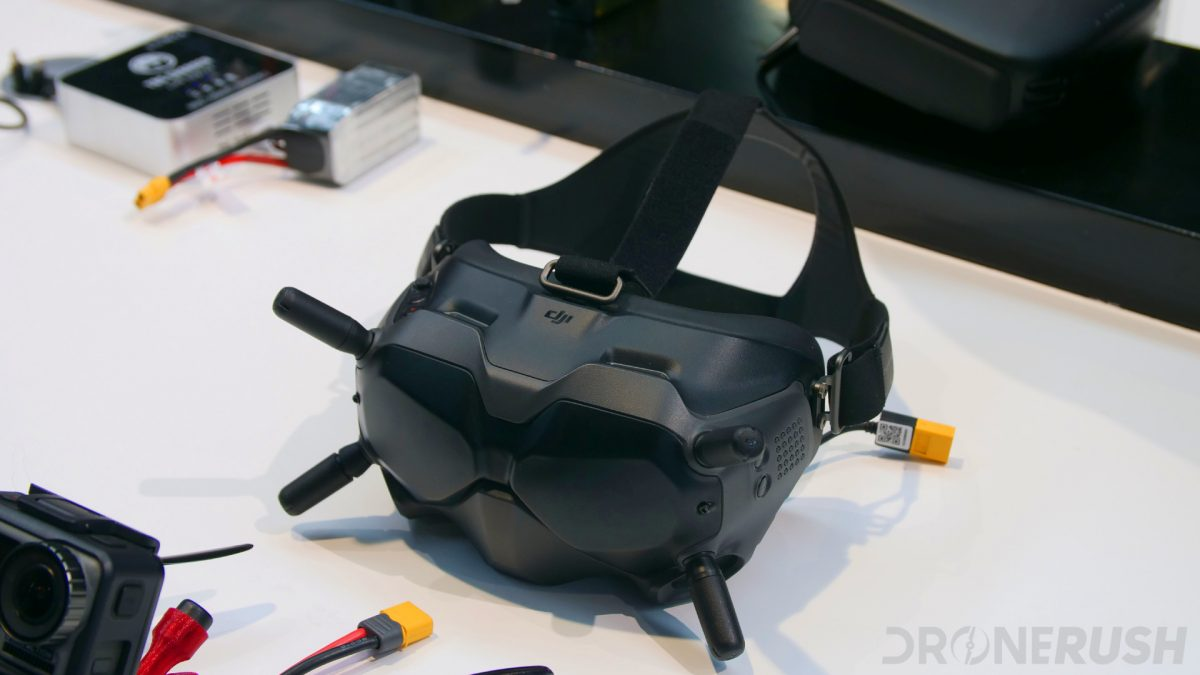 DJI FPV goggles at CES 2020