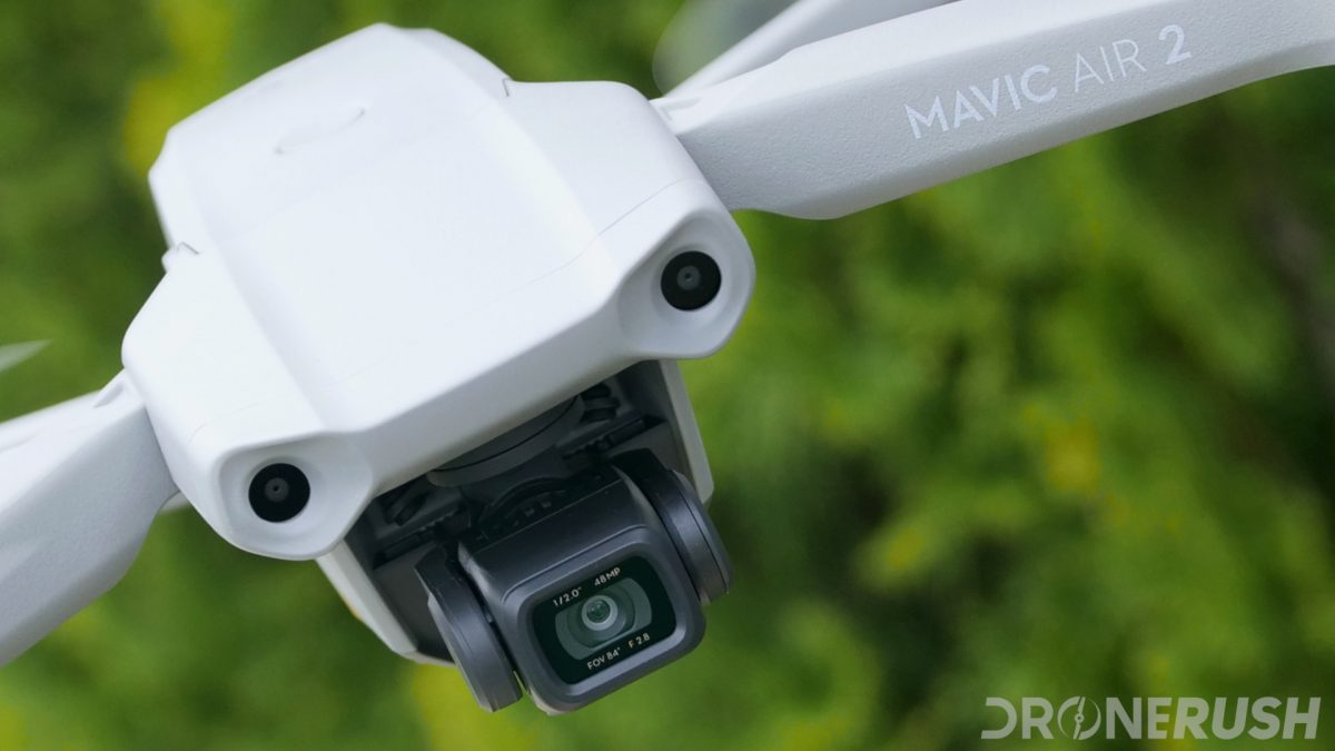 DJI Mavic Air 2 flying camera angle